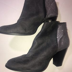 Beautiful grey boots with glitter backs new! 10!